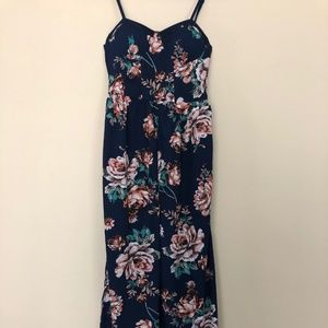 Band of Gypsies Navy Blue Floral Romper SZ S